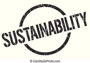 sustainability stamp - sustainability black round stamp