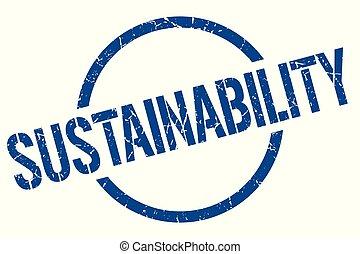 sustainability stamp - sustainability blue round stamp