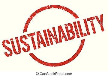 sustainability stamp - sustainability red round stamp