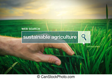Sustainable agriculture - web search bar glossary term on...