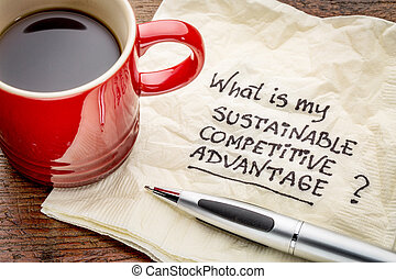 sustainable competitive advantage concept - What is my...
