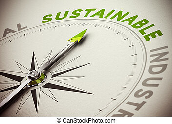 Sustainable Concept - Sustainability Business - Compass...