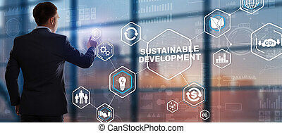 Sustainable development, ecology and environment protection concept. Renewable energy and natural resources
