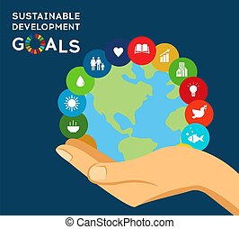 Sustainable Development Global Goals. Abstract Brochure design. Vector illustration.