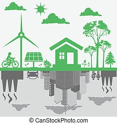 sustainable development - sustainable, development, concept...