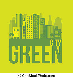 sustainable - Illustration of green ecological city,...
