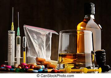 sustancias, alcohol, drogas, cigarrillos, incluso, adictivo