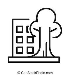 sustentável, desenho, arquitetura, ilustração