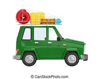SUV adventure cartoon side
