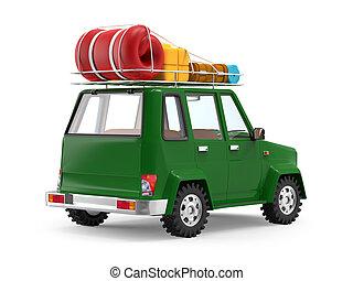SUV adventure cartoon
