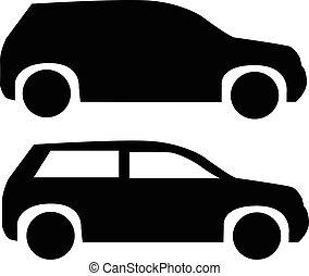 suv, automobile, icona