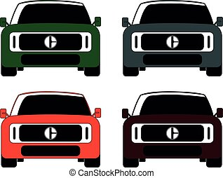 SUV car in front different color set