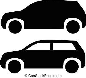 suv, coche, icono
