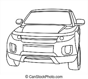 SUV, front view.