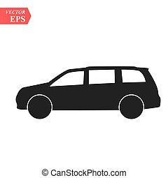 SUV Icon. Vector concept illustration for design.