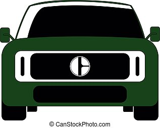SUV in front vector illustration isolated
