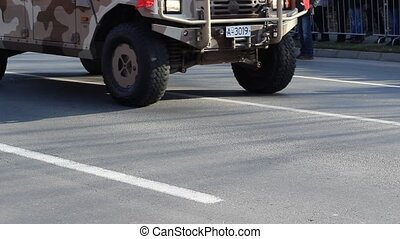SUV Military Vehicle - 4 wheels drive military vehicle...