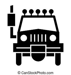 Suv solid icon. Car vector illustration isolated on white. Transport glyph style design, designed for web and app. Eps 10.