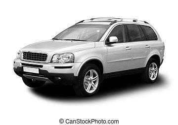 SUV - Sport Utility Vehicle Isolated on White