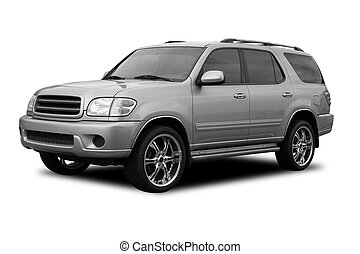 SUV - A SUV with tinted windows and cool wheels