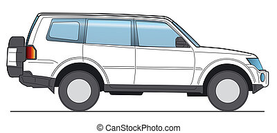 SUV Vector - Off-Road, SUV - Layout for presentation -...