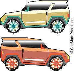 SUV vector edgy