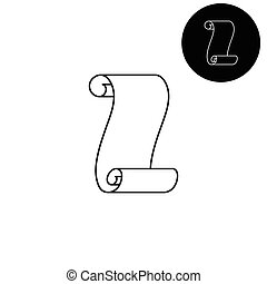 Suva paper  - white vector icon