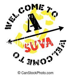 Suva stamp rubber grunge