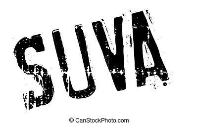 Suva stamp. Grunge design with dust scratches. Effects can be easily removed for a clean, crisp look. Color is easily changed. rubber grunge