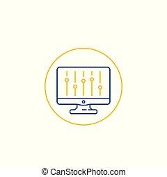 suwak, ikona, kreska, konfiguracja, bar