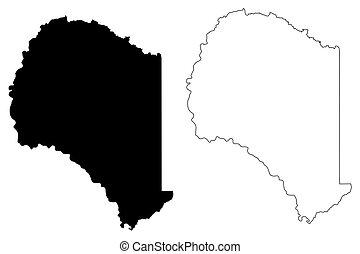 Suwannee County, Florida (U.S. county, United States of America, USA, U.S., US) map vector illustration, scribble sketch Suwannee map