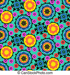 Suzani pattern - Ethnic pattern in bright color with ...