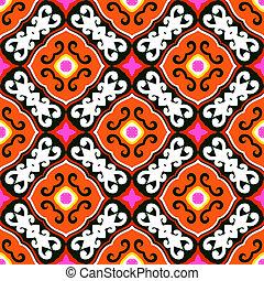 Suzani, vector pattern with bold ornament - Suzani, vector ...
