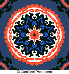 Suzani, vector pattern with bold ornament - Texture with ...