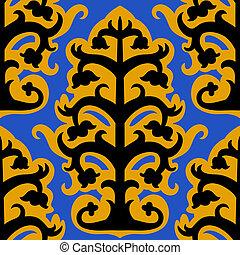 Suzani, vector seamless ethnic pattern with Uzbek Turkish ...