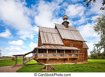Suzdal. Church of St. Nicholas from the village of Glotovo, Yuri