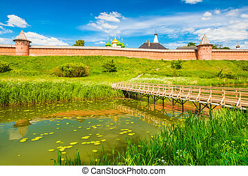 Suzdal cityscape on a summer day. The Golden Ring of Russia