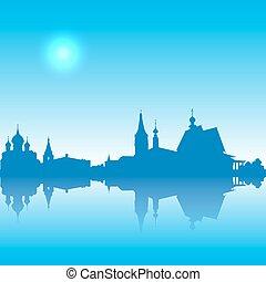 Suzdal  vector silhouette  skyline