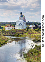 Suzdal. View of the Church of Elijah the Prophet. Golden Ring of Russia