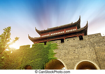 Suzhou Ancient City Gate - Ancient city gate in Suzhou, ...