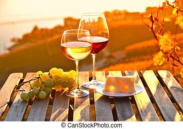 svájc, grapes., bor, lavaux