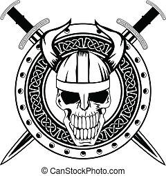 svärd, kranium