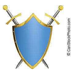 sværde, skjold, og