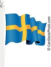 svédország, nemzeti lobogó