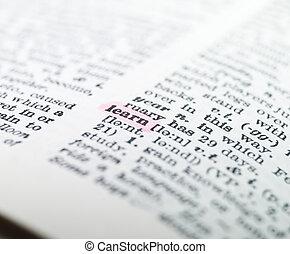 světelné zvýraznění, vzkaz, 'learn', slovník