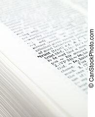 světelné zvýraznění, vzkaz, 'trust', slovník