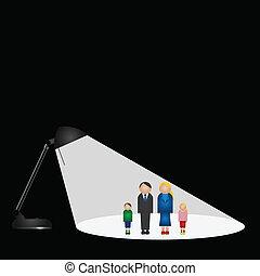 světlomet, rodina
