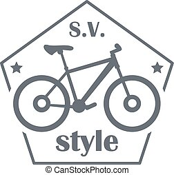 SV bike style logo, simple style - SV bike style logo....