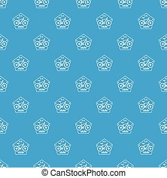 SV bike style pattern vector seamless blue repeat for any...