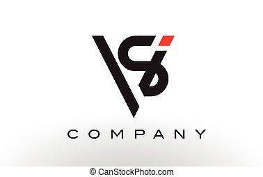 SV Logo.  Letter Design Vector.